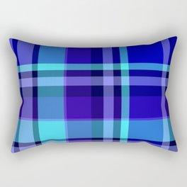 Blue Plaid Pattern Rectangular Pillow
