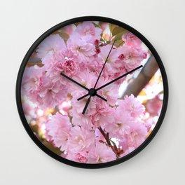 Pink Blossoms Beauty Wall Clock