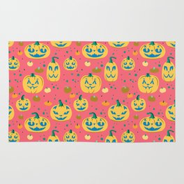 Tropical Cat o' Lanterns Rug