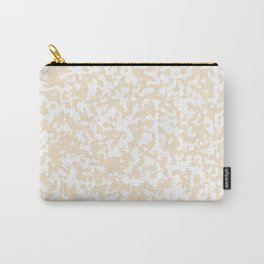 Small Spots - White and Champagne Orange Carry-All Pouch