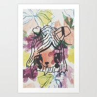 Kawaii flow Art Print