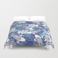 Blue Koi Ripples Duvet Cover