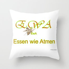 Essen wie Atmen Throw Pillow