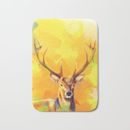 Forest King - Deer painting Bath Mat