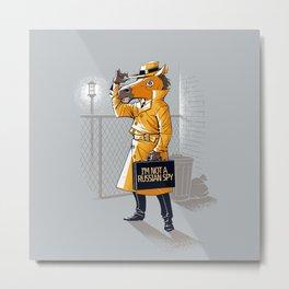 I'm Not a Russian Spy Metal Print