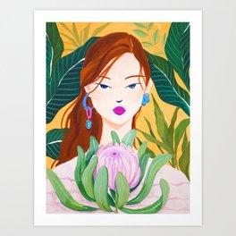 Botanical Lady Art Print