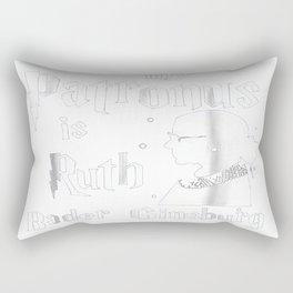 My Patronus is Ruth Bader Ginsburg Tee - RBG Rectangular Pillow