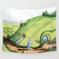 hobbit Wall Tapestries featuring The Hobbit by Emily