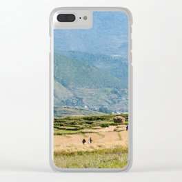 Agricultural Bhutanese landscape Clear iPhone Case