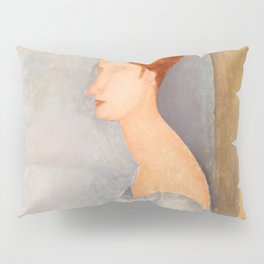 "Amedeo Modigliani ""Portrait of Jeanne Hébuterne"" Pillow Sham"