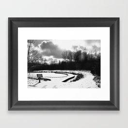 Dark Skies Pond Framed Art Print