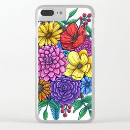 Floral Unity Clear iPhone Case