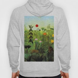 "Henri Rousseau ""Exotic Landscape with Lion and Lioness in Africa"", 1903-1910 Hoody"