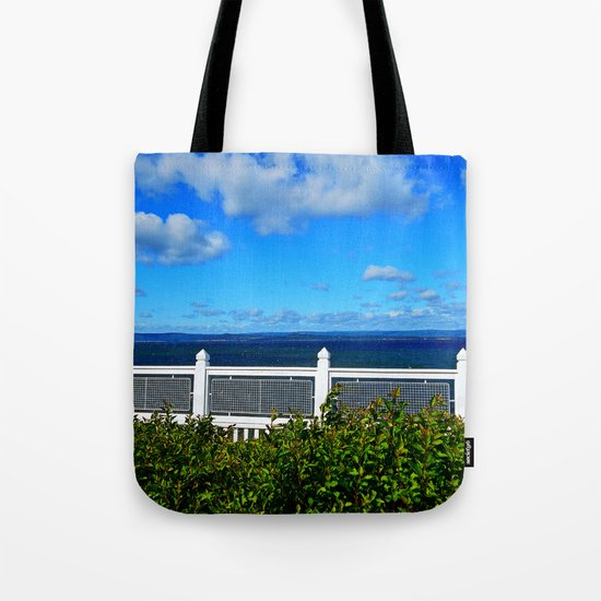 Shoreline Fence Tote Bag
