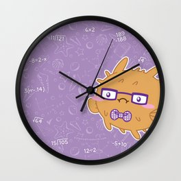 Nerdy Blowfish Wall Clock