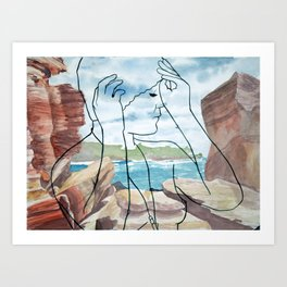 Wylie's Baths Art Print