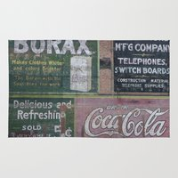 coca cola Area & Throw Rugs featuring Coca-Cola & Borax by Andrea Jean Clausen - andreajeanco