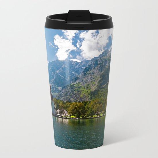 Outdoors, Church, Alps Mountains, Koenigssee Lake on #Society6 Metal Travel Mug