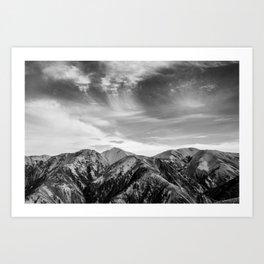 Mount Hutt Sky Art Print