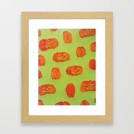 Floating Jacks (Green) Framed Art Print