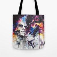 la Tote Bags featuring la nostra infinita abnegazione  by agnes-cecile