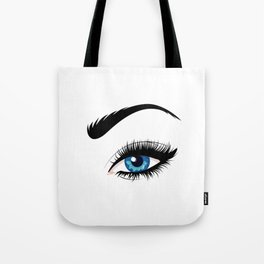 Fashion blue eye Tote Bag