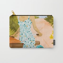 Biking In The Woods #illustration #painting Carry-All Pouch