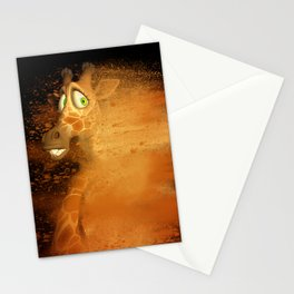 The speed giraffe Stationery Cards