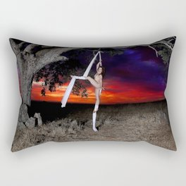 Nude with Silks Rectangular Pillow