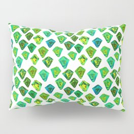 Green gemstone pattern. Pillow Sham
