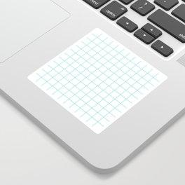 Teal Windowpane Grid Sticker