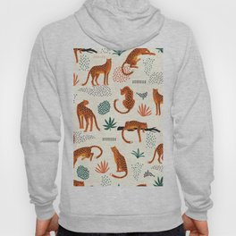 Seamless pattern with leopards Hoody