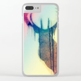 Deer colorful Clear iPhone Case