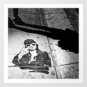 Stencil man in Deep Ellum by angelkwill