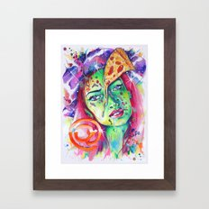 @pizzaface Framed Art Print