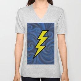 Lightning Swirl Unisex V-Neck