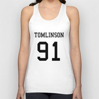 louis tomlinson Tank Tops featuring TOMLINSON by kikabarros