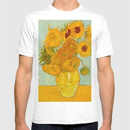 Sunflowers Oil Painting By Vincent van Gogh T-shirt