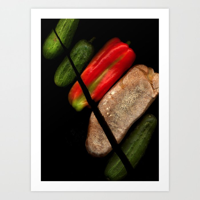 Chopped Salad Art Print