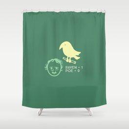 Poe & Raven Green (designer) Shower Curtain