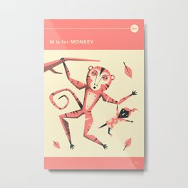 M is for MONKEY Metal Print