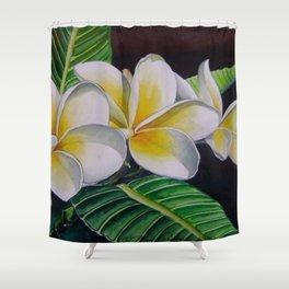 Polynesian Plumeria Shower Curtain