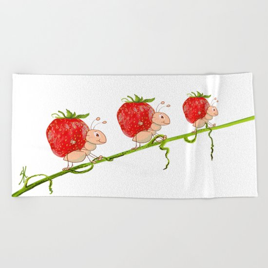 Strawberry Beach Towel