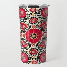 Shakhrisyabz Suzani Uzbek Embroidery Print Travel Mug