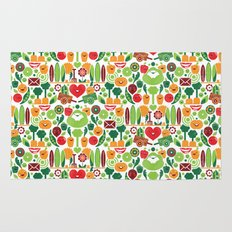 Vegetables tile pattern Rug