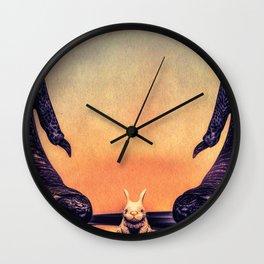 Oh No Mister Bunny Wall Clock
