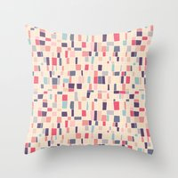 grid Throw Pillows featuring grid by Marta Olga Klara