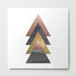Valley, Scandinavian Modern Abstract Metal Print