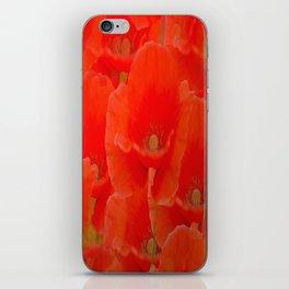 Red Poppies #decor #buyart #society6 iPhone Skin