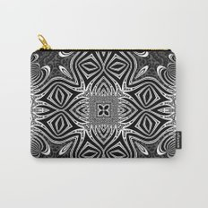 Black & White Tribal Symmetry Carry-All Pouch